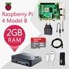 Raspberry Pi 4, Kit B 2G Original de la placa Pi 4, fuente de alimentación de Cable Micro HDMI con caja de interruptor con disipadores de calor del ventilador