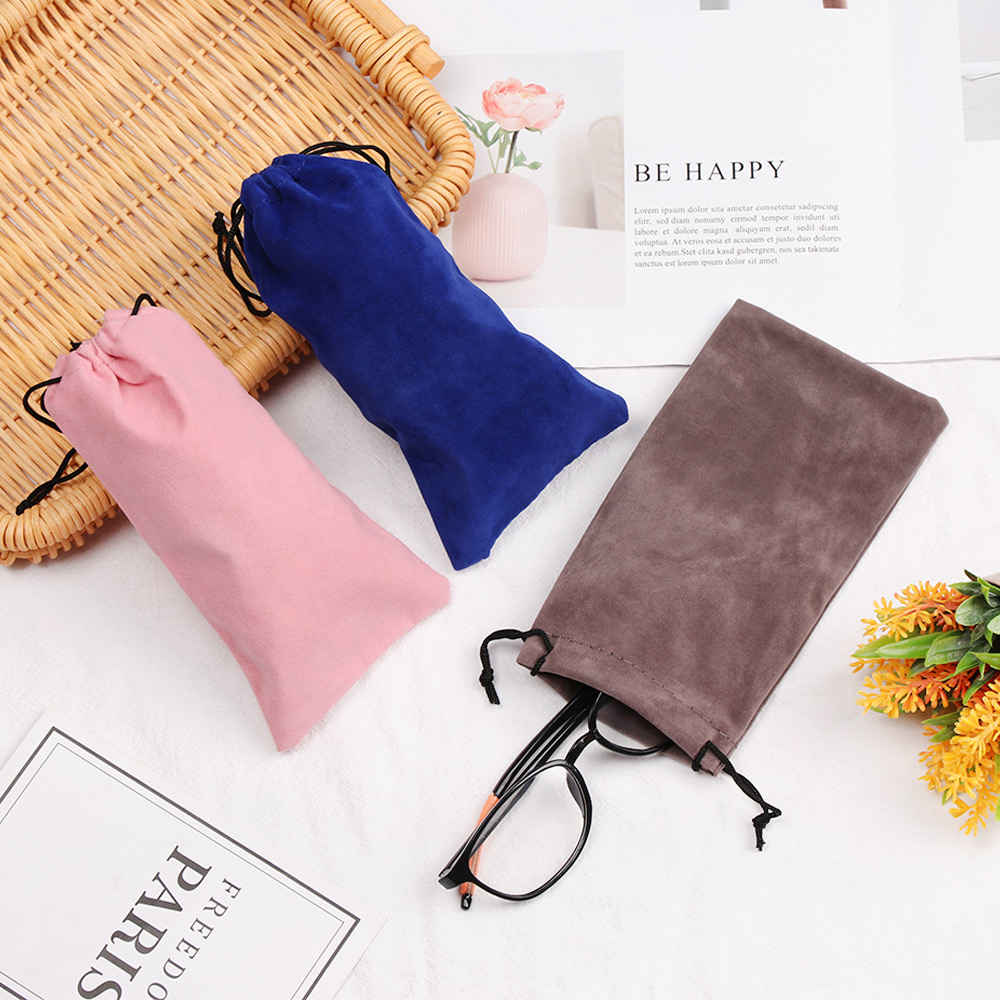 1/5PCS Men Women Fashion Portable Soft Sunglasses Cloth Bags Drawstring Pouch Myopia Customized Glass Case Eyewear Accessories
