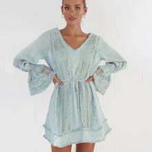 KIYUMIMini Dress Women 2019 Autumn New Long Sleeve Sweet Dresses