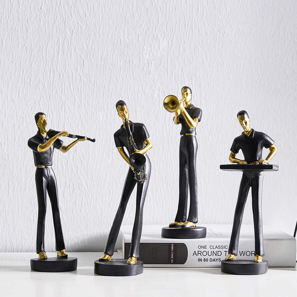 Resin Abstra Musical Model Nordic Home Decoration Accessories Statue Resine Moderne People Figurines For Bar TV Cabinet Decor