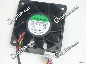 Para sunon PMD1206PMB2-A (2). b1562.f. gn dc12v 7.0 w 6038 6 cm 60mm 60x60x38mm 3pin ventilador de refrigeração