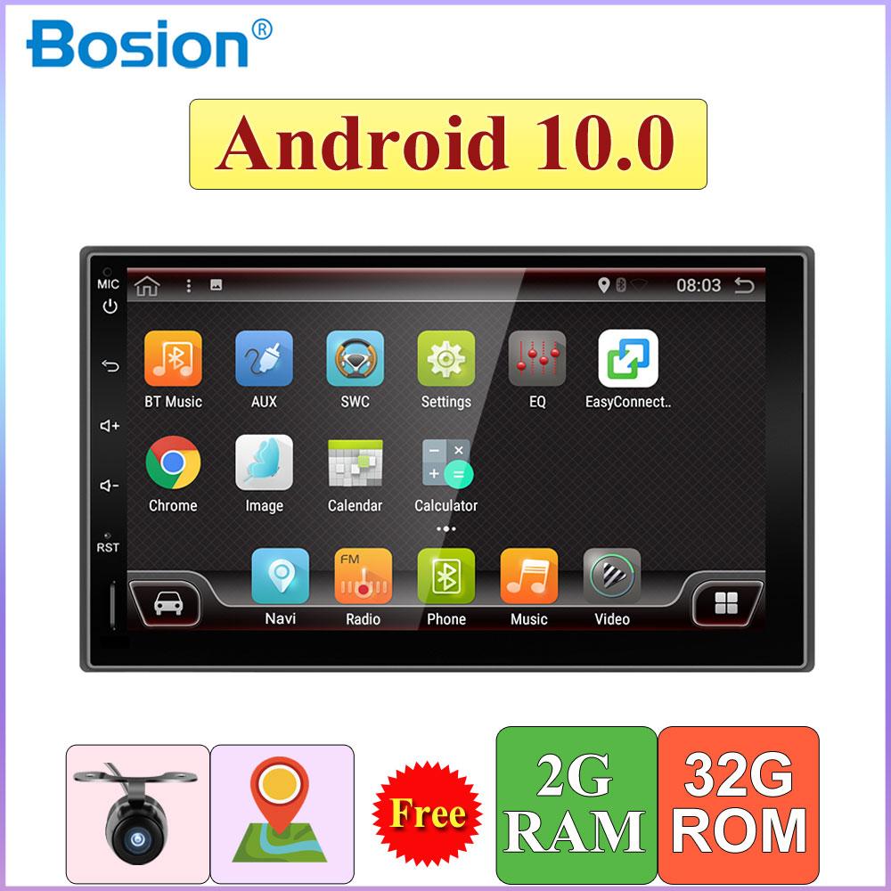 2 Din Auto Radio Stereo Android 10,0 Quad Core 2GB + 32GB BT Wifi GPS Navigation SWC Autoradio kopf Einheit TUPFEN OBD Spiegel Link