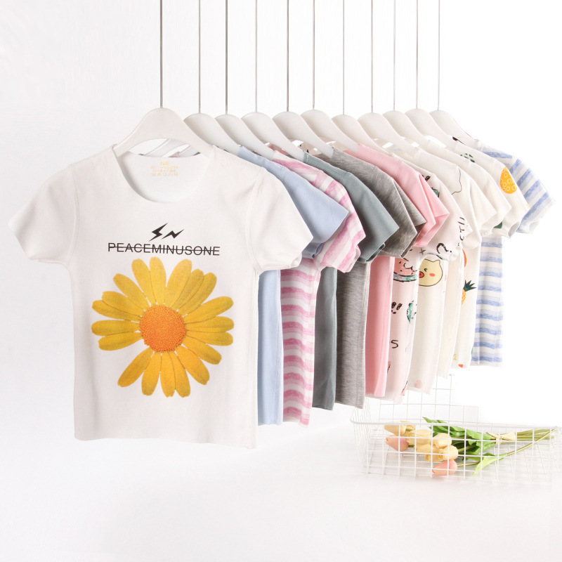 Larcy Girls T-shirt And Tops Of Cartoon Pattern Comfortable And Soft  Summer Tee