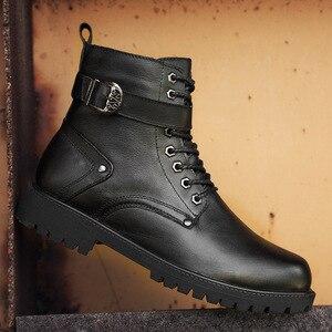 Image 1 - 39 46 men boots Non Slip 2019 Comfortable warm men winter shoes #NXZY1098