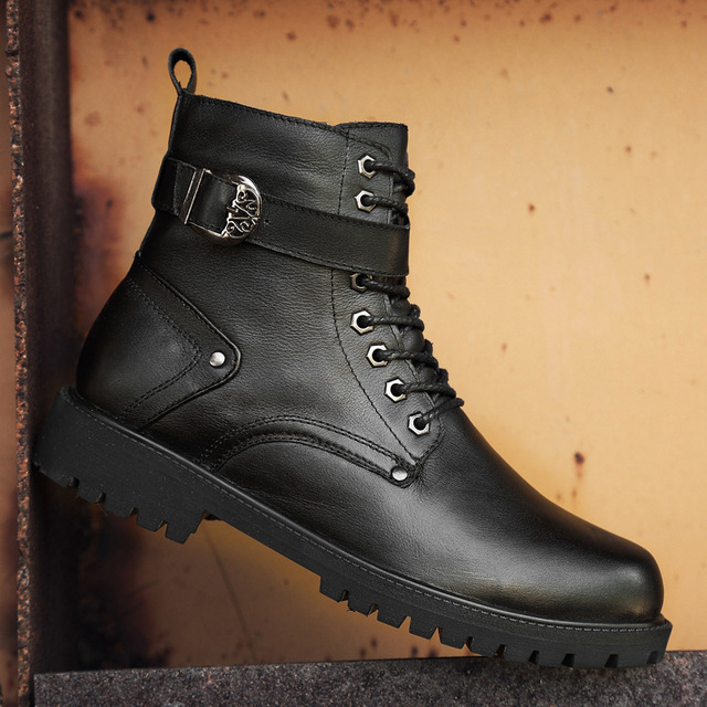 39 46 men boots Non Slip 2019 Comfortable warm men winter shoes #NXZY1098