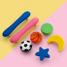 Children Furniture Handles Cartoon Cabinet Knobs and Handles PVC Cloud Drawer Knobs Pulls for Kids