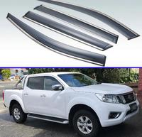 Para nissan navara fronteira np300 d23 2014 2015 2016 2019 plástico exterior viseira ventilação shades janela sol guarda chuva defletor 4 pçs|Estilo de cromo| |  -