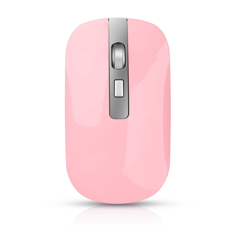 M30 Rechargeable Wireless Mouse 1600 DPI USB Optical Wireless Computer Mouse 2.4G Receiver Super Slim Mouse for PC Laptop(Pink) image