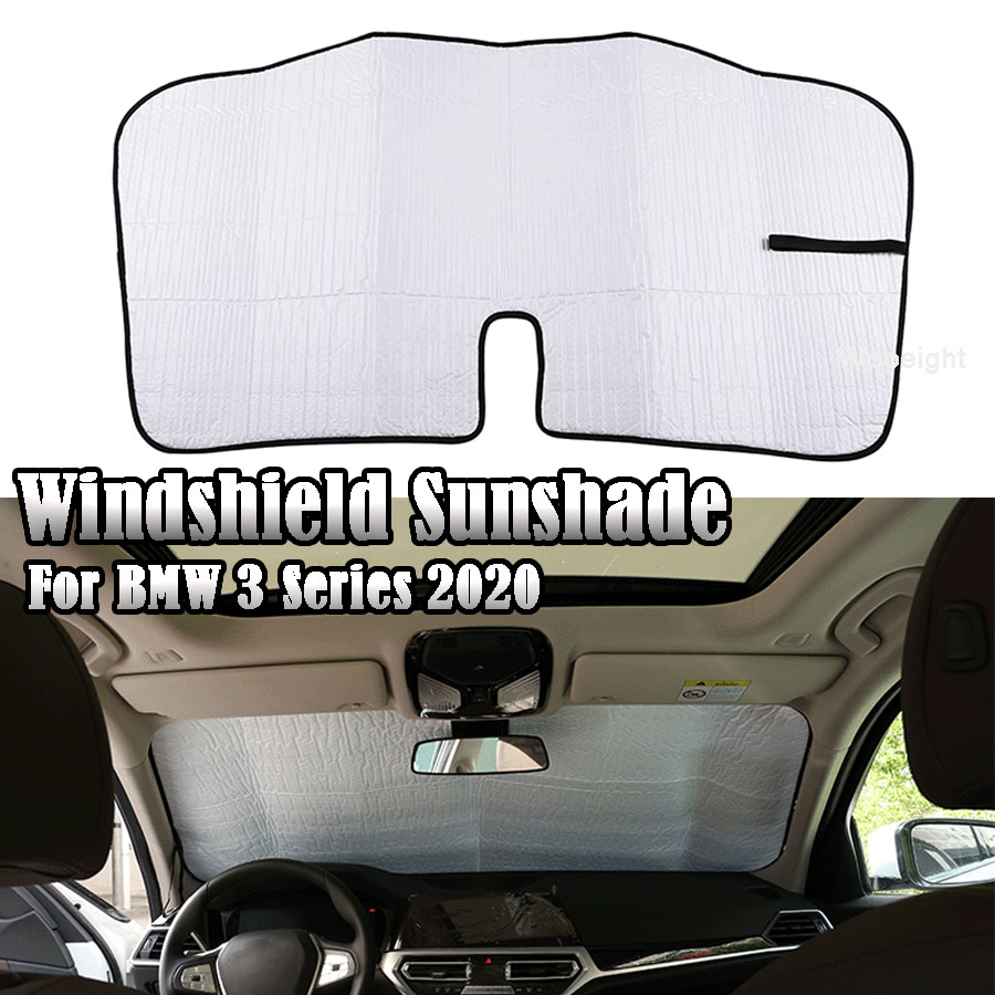 Wooeight 1Pc Aluminum Foil Car Window Sunshade Front File Windshield Sunshade Sun Protection Cover Fit For BMW 3 Series 2020