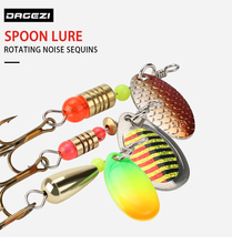2pcs lot spinner spoon fishing lure 6cm 10g metal hard baits sequins noise artificial bait with treble hook fishing tackle pesca Metal Sequins Fishing Lure Set 30pcs Spoon Lure Spinner Bait Fishing Tackle Hard Bait Spinner Bait Pesca