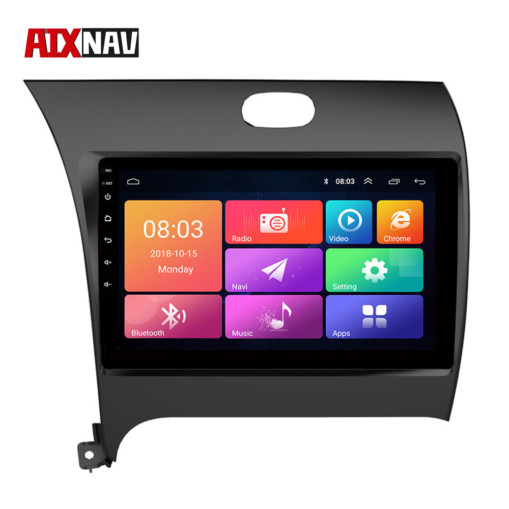 Car Multimedia Player 1 Din Car Radio GPS Navigation System DVR Tablet Mirror Link Rearview Camera Screen For KIA K3 2012-2015 image