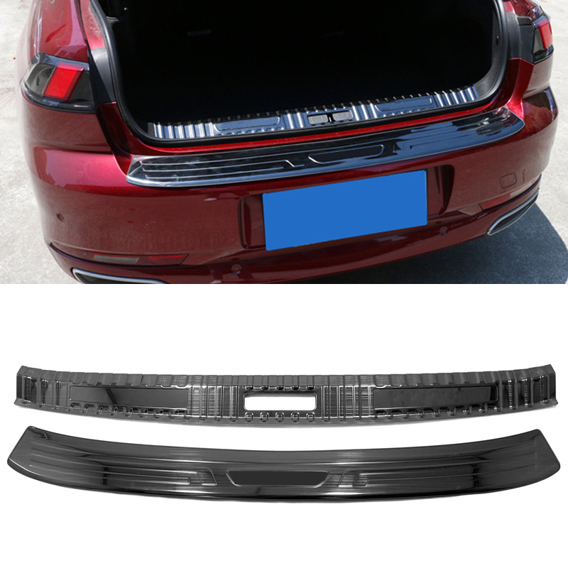 For Peugeot 508 GT 2019 2020 Stainless Steel Inner + Outer Rear Bumper Guard Plate Trim 2pcs