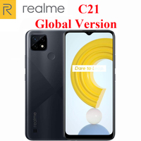 Global Version Official New  Realme C21 Cell Phone Helio G35 Octa Core 6.5inch 3-Card Slot 13MP Camera 5000mAh Massive Battery 1