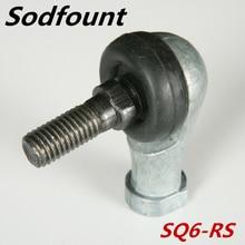 4 шт. SQ6 M6 Диаметр 90 градусов разъем шаровой шарнир наконечник подшипника 6 мм мужской стали
