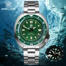 Механические часы steeldive 1970 abalone nh35 для дайвинга на