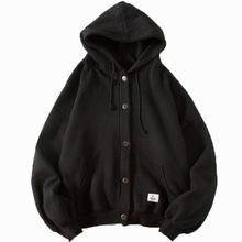 Moda masculina hoodies solto cardigan moletom manga longa correspondência cor casaco casual topo streetwear primavera pulôver com capuz