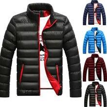 Пуховик мужской зимний портативный теплый пуховик хлопковое мужское легкое пальто на молнии Верхняя одежда водонепроницаемая ковбойская куртка Hombre