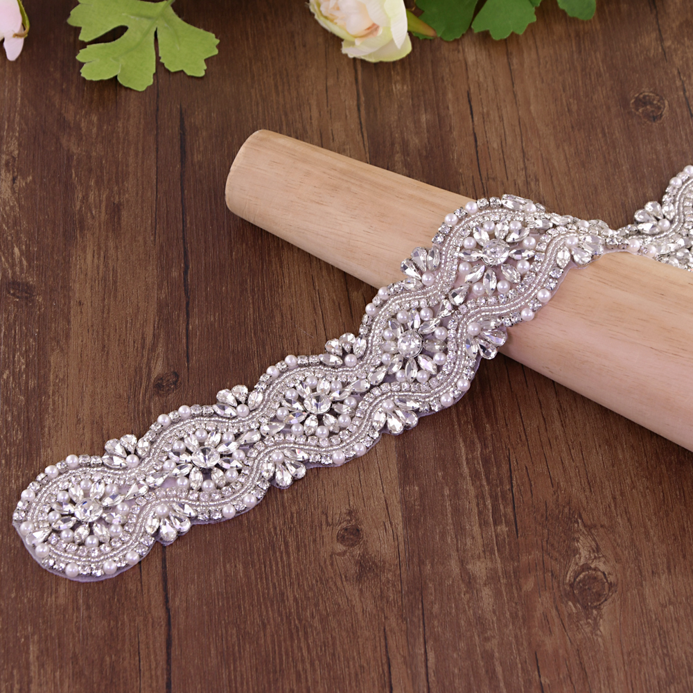 TRiXY S04 Luxury Crystal Wedding Belt Rhinestone Czech Stones Bride Bridal Belt Sashes Wedding Accessories Evening Dress Belts