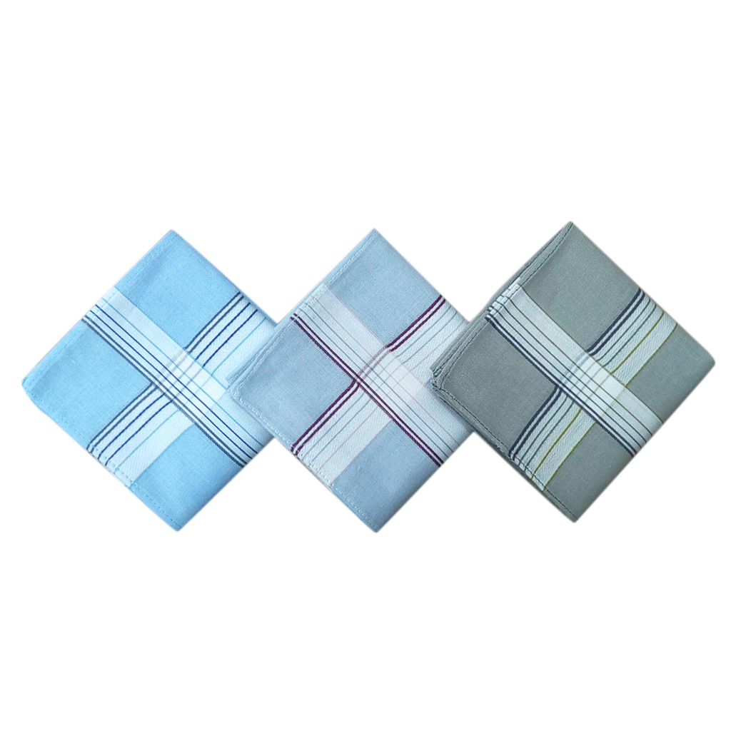 40CM Mens Large Square Hankies Pocket Handkerchiefs Cotton Polyester Hanky 24Pcs