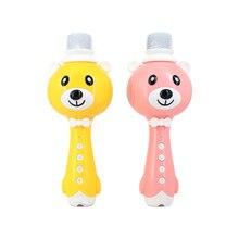 Детский беспроводной Bluetooth микрофон для караоке, музыкальный инструмент, Поющая игрушка, многофункциональный микрофон для детей, рождественский подарок