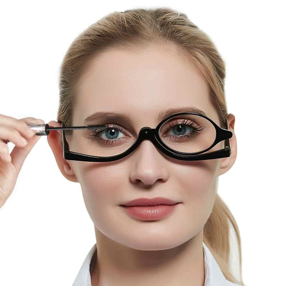 MARE AZZURO Makeup Reading Glasses Women Magnifying Glasses Rotating  Folding Eyeglasses Monocular Cosmetic General +20200.200 +20200.200 +20