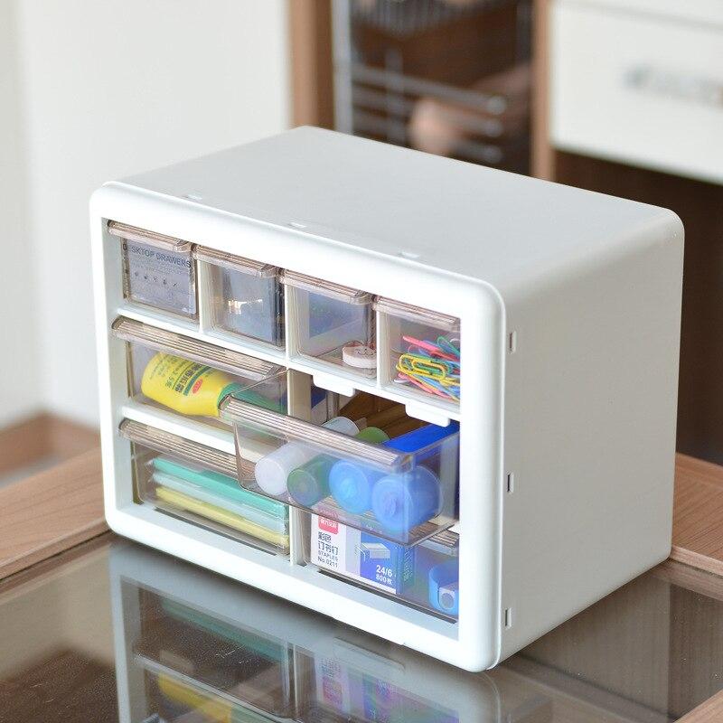 Transparent Multi-layer Cosmetic Stationery Storage Box / Desktop Drawer Storage Box/ Office Supplies Desk Accessories