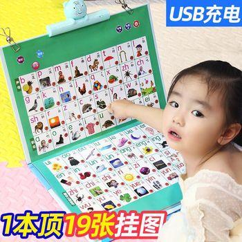 Lade Audio Diagramm Frühen Bildung Alphabet Aussprache Chinesischen Übersetzung Punkt Lesen Maschine Hängen Diese ERLEUCHTEN Chi