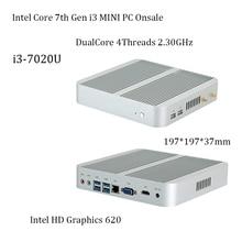 7Gen Intel core i3-7020Umini pc  onsale intel hd620 win10 4K VGA HDMI Mini Nettop Htpc nas Home / office Network storage DDR4