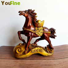 Chinese classical bronze horse sculpture Mustang statue office hotel Feng Shui business gifts immediately get rich
