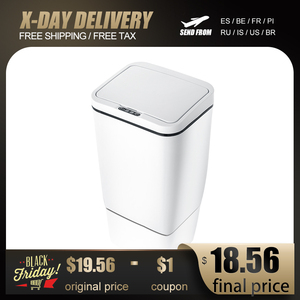 Image 1 - Capteur de mouvement à induction Intelligent sans contact automatique poubelle de cuisine capteur douverture large poubelle écologique