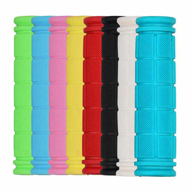 1 Pair Bicycle Handlebar Grips Soft Rubber Cycling Mountain Bike Scooter Fixed Gear Bar End Parts Accessory Tool  8 Colors