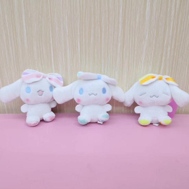1pc New Cute Cartoon Anime Cinnamoroll Dog Keychain Bag Pendant Stuffed Plush Toys For Kids Gift