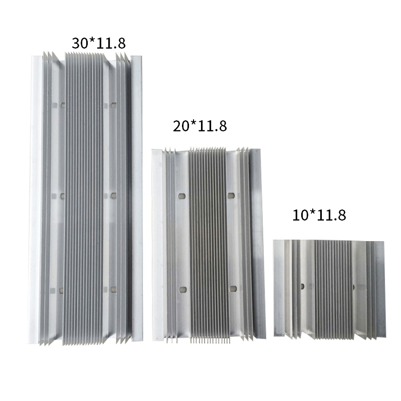 Semiconductor Refrigerator Radiator Aluminum Plate Processing Aluminum Alloy Radiator Single And Double 3 Core Guide Cold Block