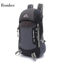 Jianfeng Waterproof ultralight Travel Foldable Backpack 35L lightweight nylon outdoor folding backpack Folding bag for Women Men