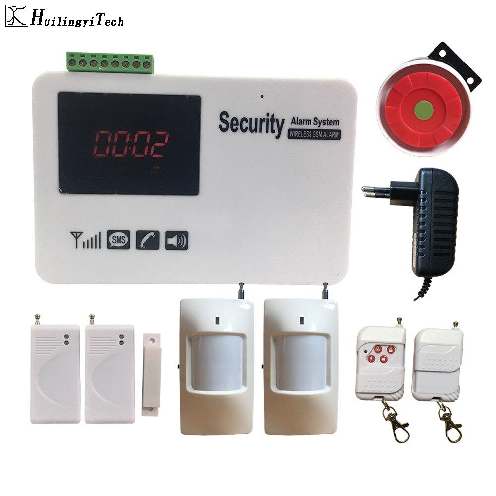 Бесплатная доставка Gsm Sms экран сенсорная беспроводная домашняя сигнализация охранная сигнализация с детектором движения DIY Kit