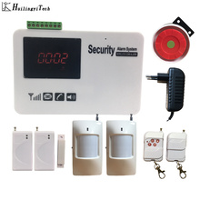 Free Shipping Gsm Sms Screen Touch Wireless Home Alarm Security Alarm System with Motion Detecter DIY Kit стоимость