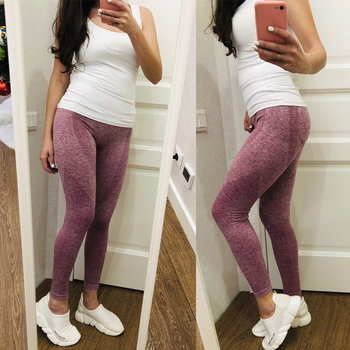 GYM Seamless High Waist Yoga Leggings Tights Women Workout Dot Breathable Fitness Clothing Female Stretchy
