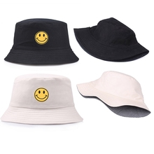 Женская шляпа-Панама со смайликом, дизайн улыбающегося лица, плоская шляпа для рыбалки, рыбака, Боба, хип-хоп кепка