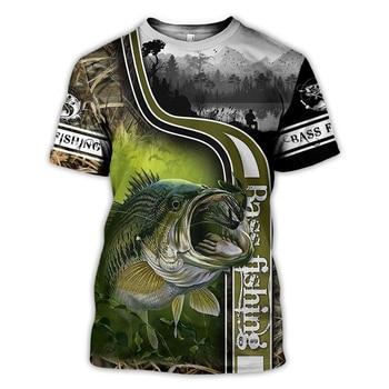 Bass Fishing Green T Shirt All Over Print