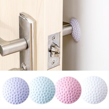 New Thickening Mute door rear wall crash pad golf shape rubber anti-collision pad Safe door handle lock protection Wall Stick 3pcs self adhesive silicone door handle knob crash pad wall protectors anti collision bumper guard door stopper stops stick