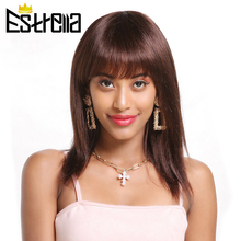 Straight Short Human Hair Wigs Brazilian Machine Made