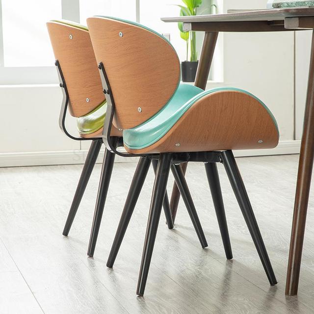 K-star Nordic Dining Chair Modern Minimalist Home Leisure Chair Coffee Shop Chair Wrought Iron Net Red Chair Coffee Shop Cha 4