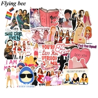 sticker motorcycle Flyingbee 35 pcs Mean Girls Movie Sticker Sexy women Stickers for DIY Luggage Laptop Skateboard Car Motorcycle Stickers X0738 (1)