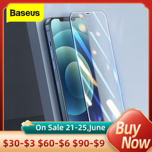 Baseus 2PCS Screen Protector 0 3mm Full Cover Protective Tempered Glass For iPhone 12 11 Pro XS 12Pro Max XR X Mini Glass Film cheap Clear Anti Blue-ray CN(Origin) APPLE Front Film Baseus 0 3mm Full-glass Tempered Glass Film High Definition Transparent Anti Blue Light Transparent