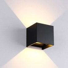 12W FÜHRTE Wand Licht Indoor & Outdoor Wasserdicht IP65 mit Einstellbare Strahl Winkel Design Cube LED Garten Veranda Wand lampe