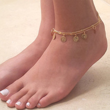 Tassel Anklet Wholesale Summer-Accessories New Coin Metal Gift Round Beauty