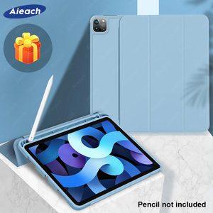 Чехол для iPad Air 4 3 2 Mini 5 с держателем для карандашей, нано силиконовый чехол из искусственной кожи для iPad 10,2 2019 2018 Pro 11 2017, чехол