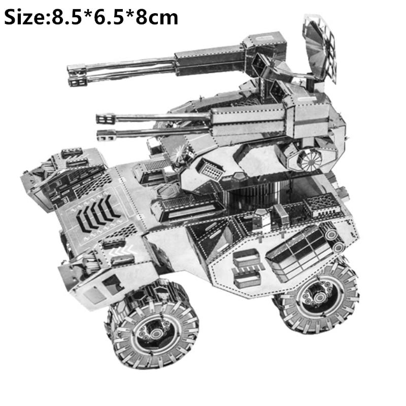3D Metal Puzzle Model Kit DIY Stainless Steel Starship DOCTOR WHO TARDIS Animal Ship Adult Jigsaw DIY Jigsaw Manual Gift Toys 20