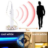 Led Motion Sensor Kabinett Licht Streifen Schalter Nacht Licht DIY Schrank Küche PIR Garderobe Lampe Drahtlose Lichter Led Schlafzimmer Licht