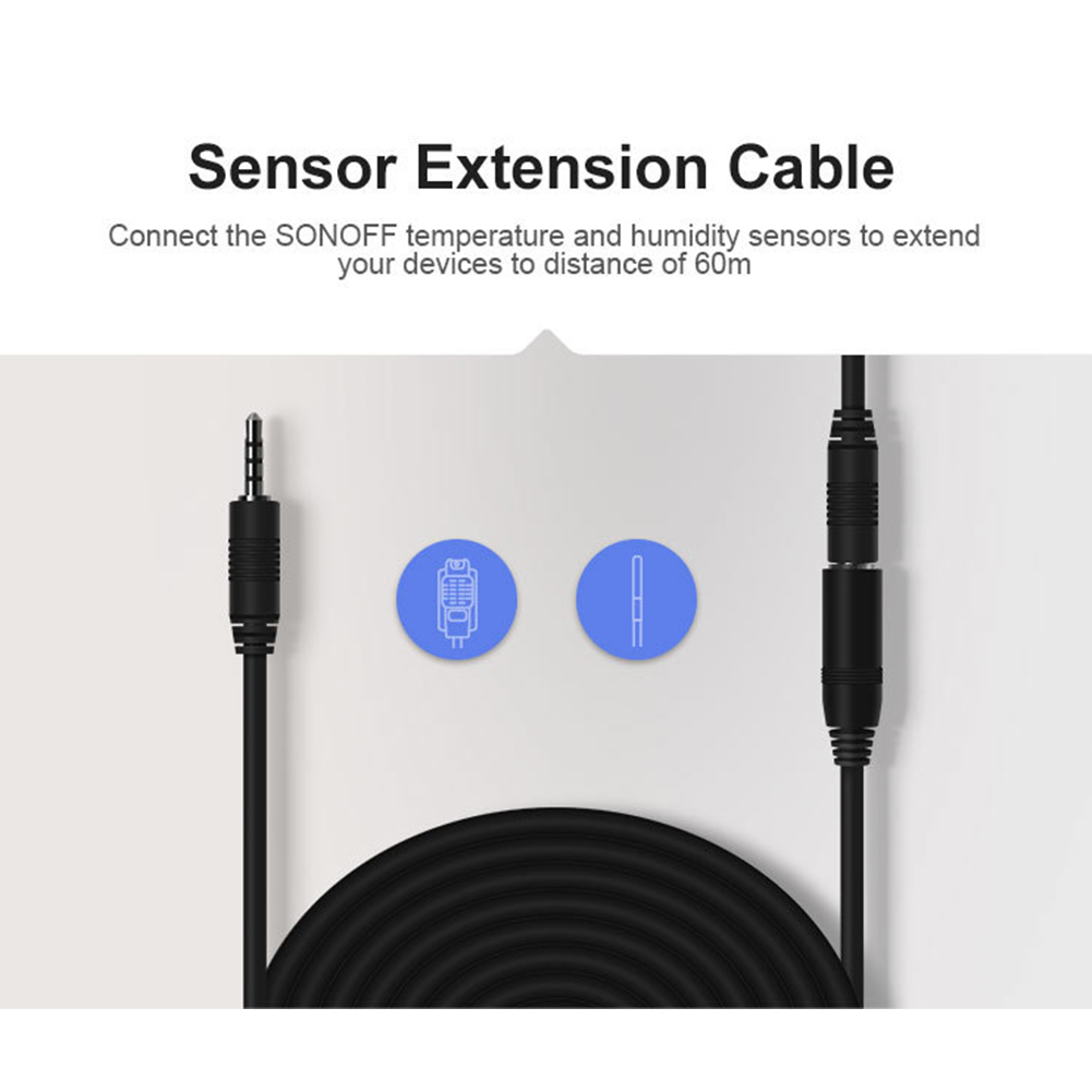 Line Home Connect High Accuracy Portable Accessories 5M Durable Office Extension Cable Temperature Sensor For Sonoff DS18B20